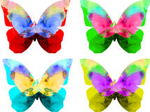 Watercolor butterfly isolated on white background Royalty Free Stock Photos