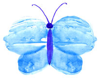 Watercolor butterfly monotype print water texture background Royalty Free Stock Photo