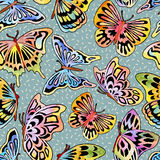 Watercolor_Butterfly_Pattern 库存图片