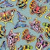 Watercolor_Butterfly_Pattern 库存例证
