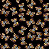 Watercolor butterfly seamless pattern Royalty Free Stock Images