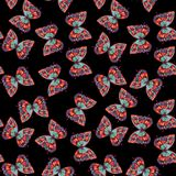 Watercolor butterfly seamless pattern Stock Photo