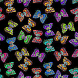 Watercolor butterfly seamless pattern Stock Photography