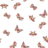 Watercolor butterfly summer. Spring on white background Royalty Free Stock Photo