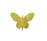 Watercolor butterfly. On white background royalty free stock images
