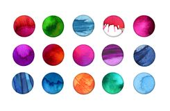 Watercolor Buttons Stock Photo