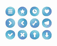 Watercolor Buttons Royalty Free Stock Photos