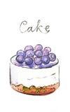 Watercolor cake Royalty Free Stock Photo