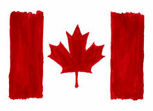 Watercolor Canada Flag. Stock Images