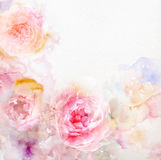 Watercolor card with beautiful flower royalty free stock images