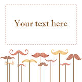 Watercolor card  Happy Father's Day. Watercolor card with mustache and text Happy Father's Day Royalty Free Stock Photo