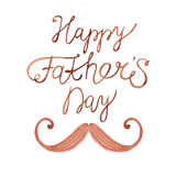 Watercolor card Happy Father's Day Stock Images