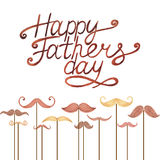 Watercolor card Happy Father's Day Royalty Free Stock Image