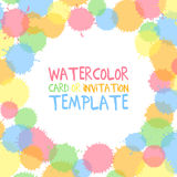 Watercolor card template Stock Images