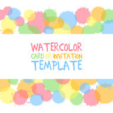 Watercolor card template Stock Image