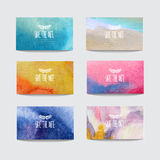 Watercolor cards set Stock Photo