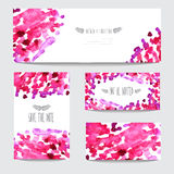 Watercolor cards set Royalty Free Stock Photography