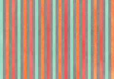 Watercolor carrot orange, seafoam, red and grey striped background. Royalty Free Stock Photo