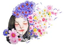 Watercolor, Character, Small Fresh Stock Images