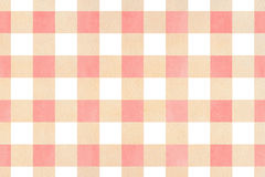 Watercolor checked pattern. Watercolor light pink and beige checked pattern. Geometrical traditional ornament for fashion textile, cloth, backgrounds Royalty Free Stock Images