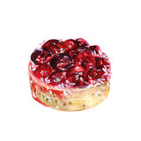 Watercolor cherry cake Royalty Free Stock Photo