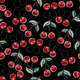 Watercolor cherry pattern