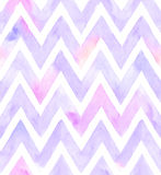 Watercolor chevron of purple color with white background. Seamless pattern for fabric vector illustration