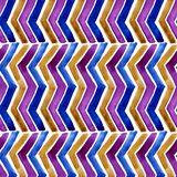 Watercolor chevron with white background. Seamless pattern for fabric vector illustration