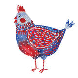 Watercolor chicken Stock Images