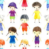 Watercolor children illustration. Royalty Free Stock Photography