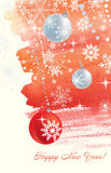 Watercolor Chrismas background Royalty Free Stock Image
