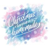 Watercolor Christmas background royalty free illustration