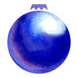 Watercolor christmas ball decoration Stock Image