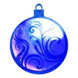 Watercolor christmas ball decoration Royalty Free Stock Image