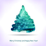 Watercolor Christmas card. Stock Images