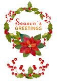 Watercolor Christmas elements Royalty Free Stock Photos