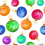 Watercolor Christmas and new year decorations Royalty Free Stock Photo