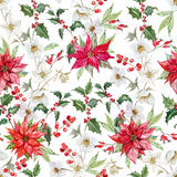Watercolor christmas pattern Royalty Free Stock Image