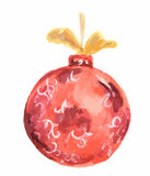 Watercolor christmas toy. Royalty Free Stock Photos