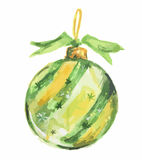 Watercolor christmas toys. Stock Photography