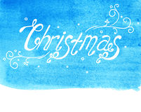 Watercolor Christmas type Stock Photos