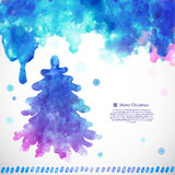 Watercolor Christmas vector illustration with a Royalty Free Stock Photography