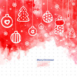 Watercolor Christmas vector illustration can be Royalty Free Stock Photos