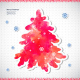 Watercolor Christmas vector illustration with a. Christmas vector illustration can be used as a greeting card royalty free illustration