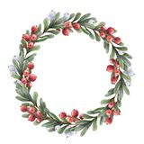 New wreath with berries Royalty Free Stock Images