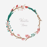 Watercolor Christmas wreath Royalty Free Stock Images