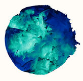Watercolor circle background Royalty Free Stock Image