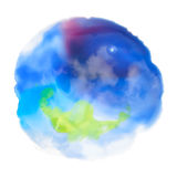 Watercolor circle background for textures Stock Photos