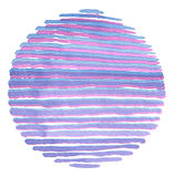 Watercolor circle painted background. Texture paper. Royalty Free Stock Photo