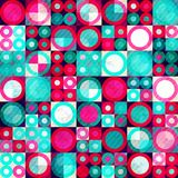 Watercolor circle seamless pattern with grunge effect Stock Photos